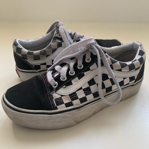 Vans Shoes | Platform Low Top Vans
